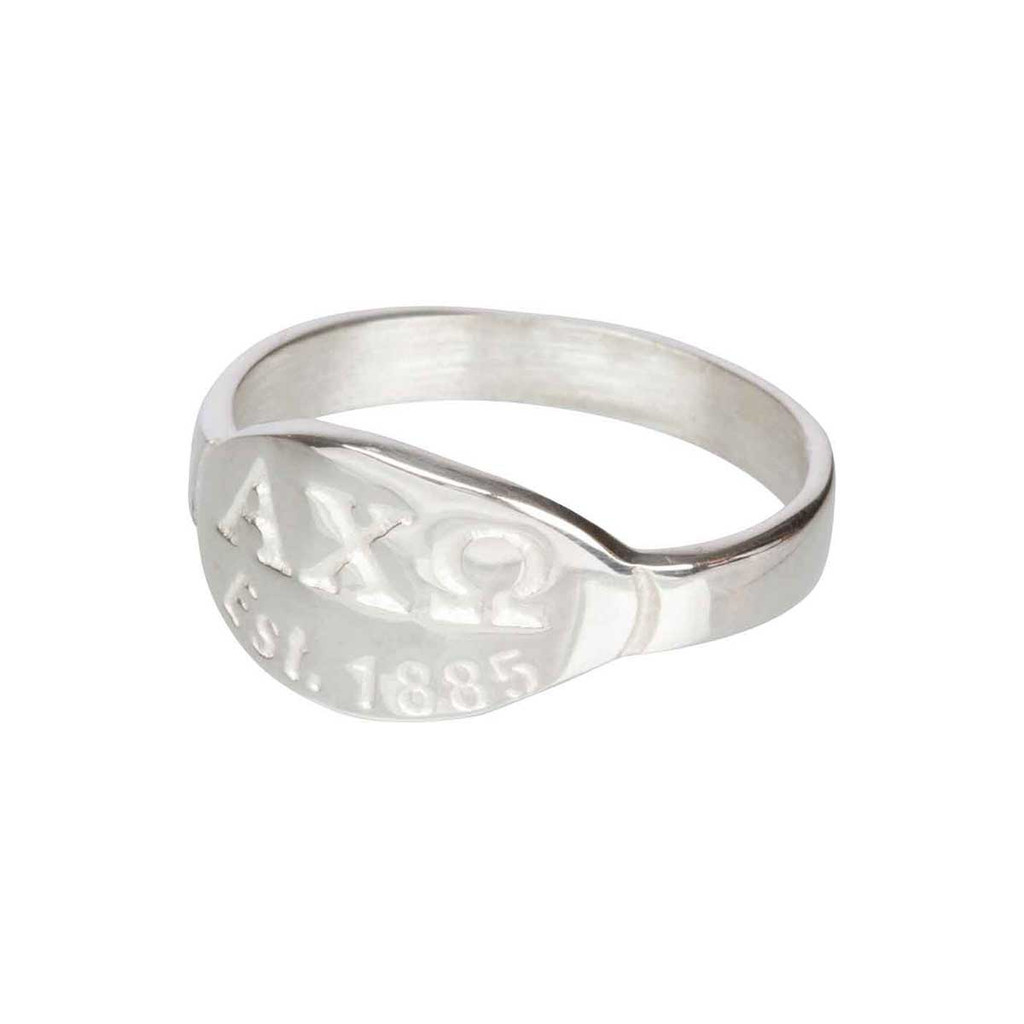 Alpha Chi Omega Silver Ring