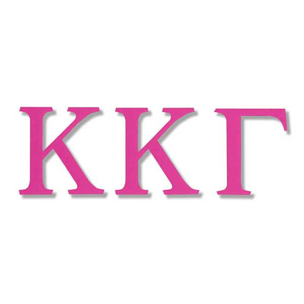 Kappa Kappa Gamma Jumbo Sticker in Hot Pink