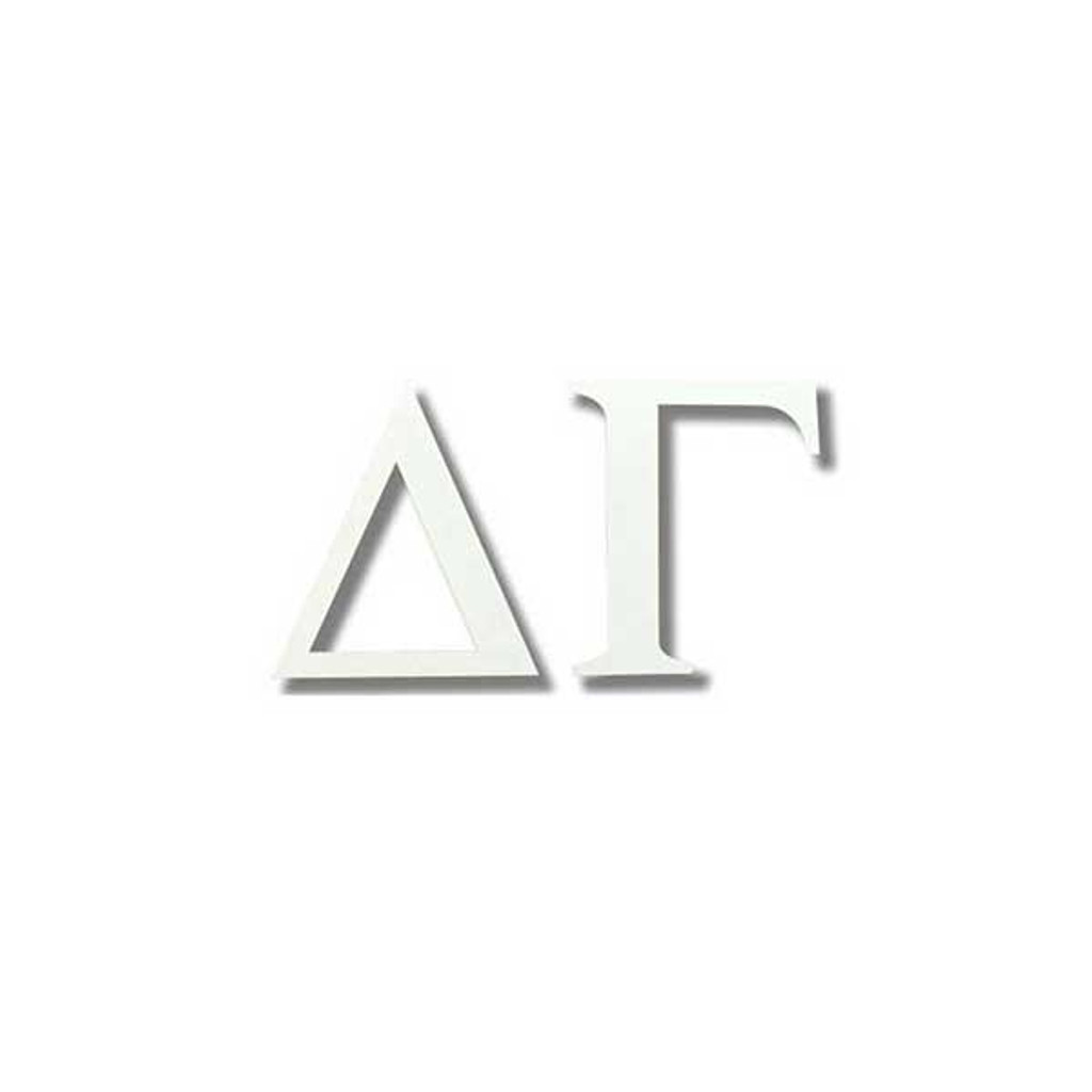 Delta Gamma White Letter Sticker