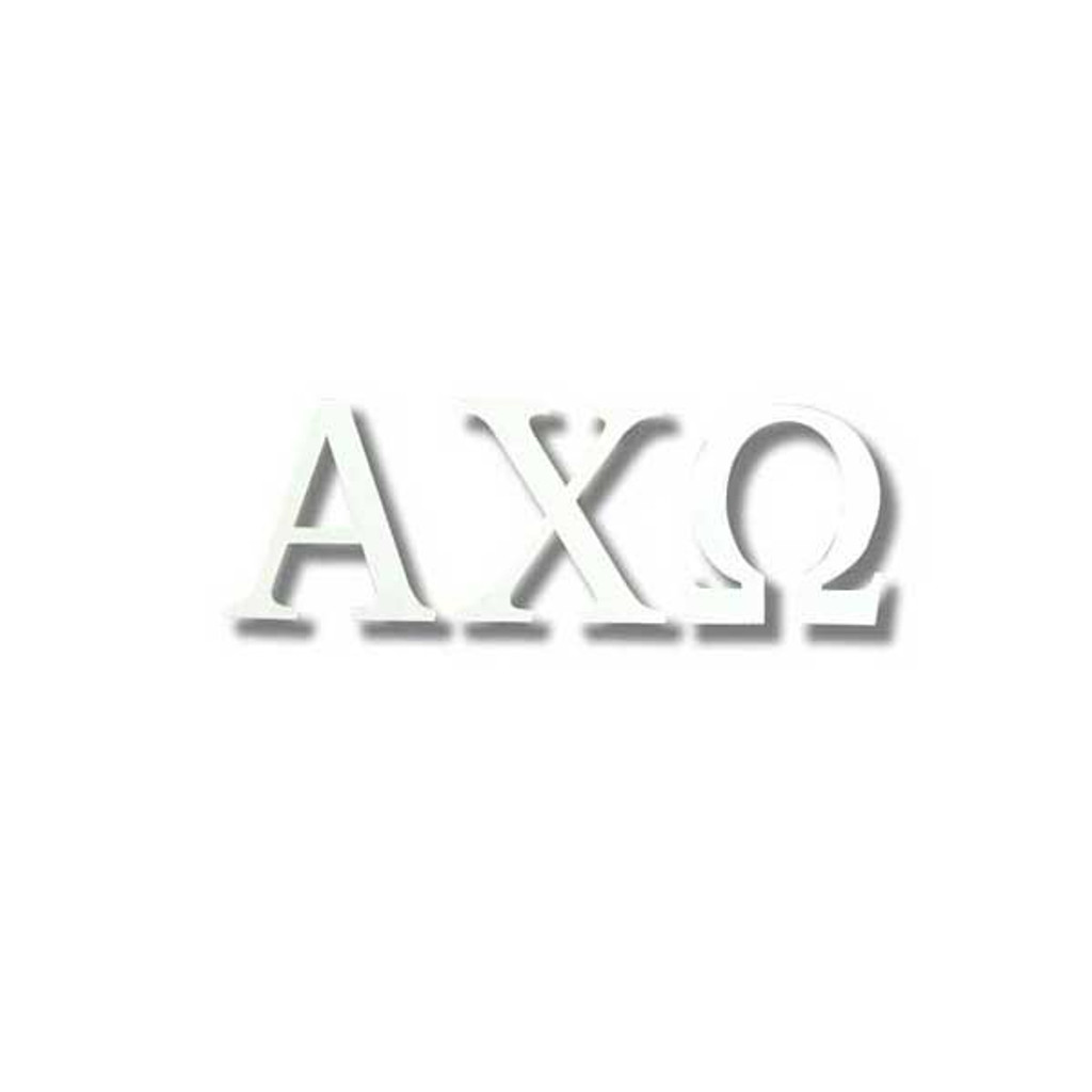 Alpha Chi Omega White Letter Sticker