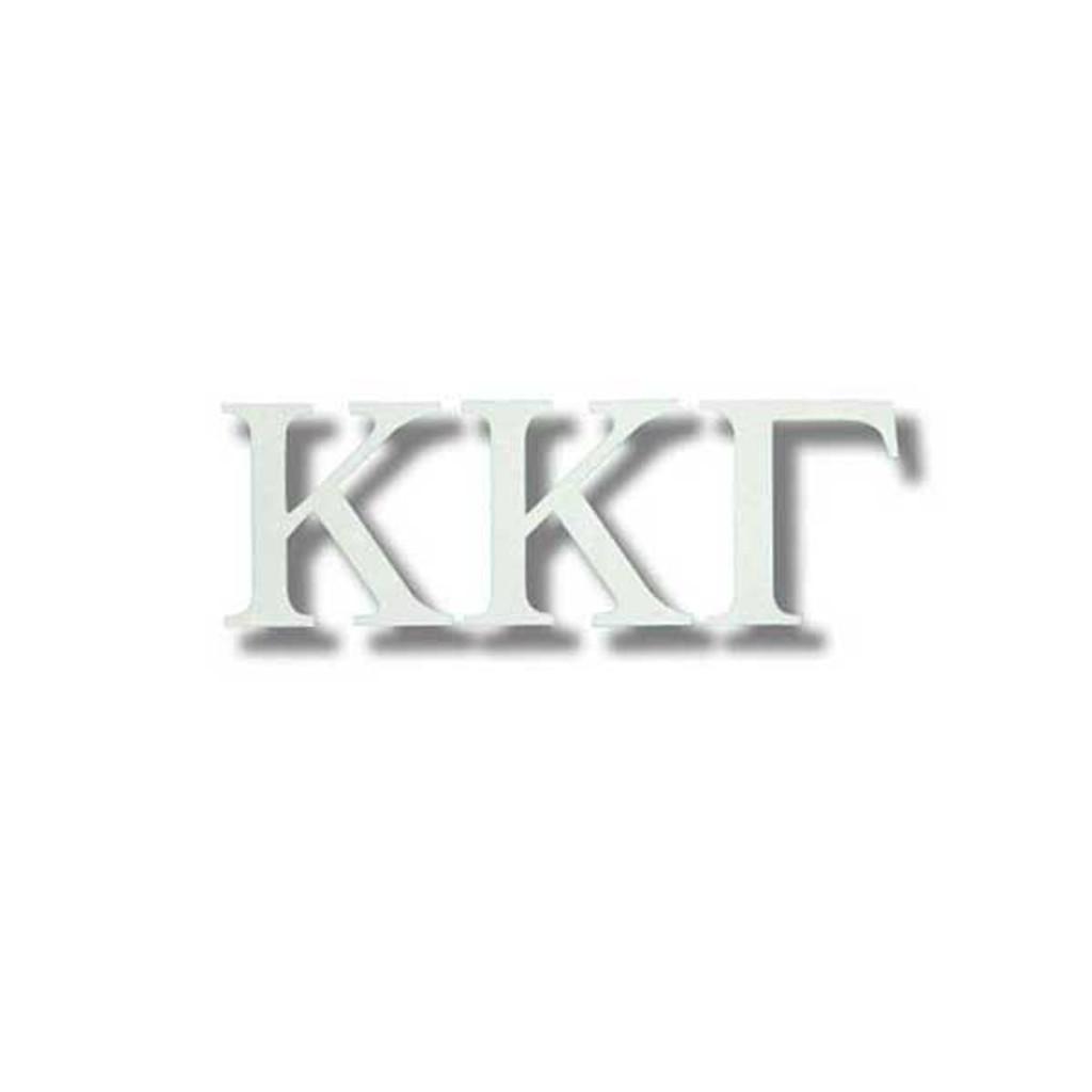 Kappa Kappa Gamma White Letter Sticker