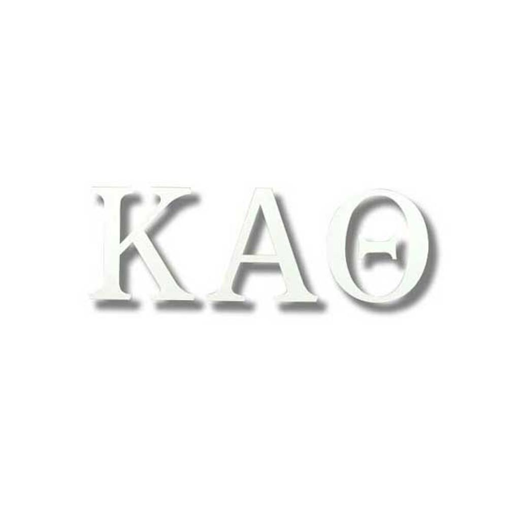 Kappa Alpha Theta White Letter Sticker