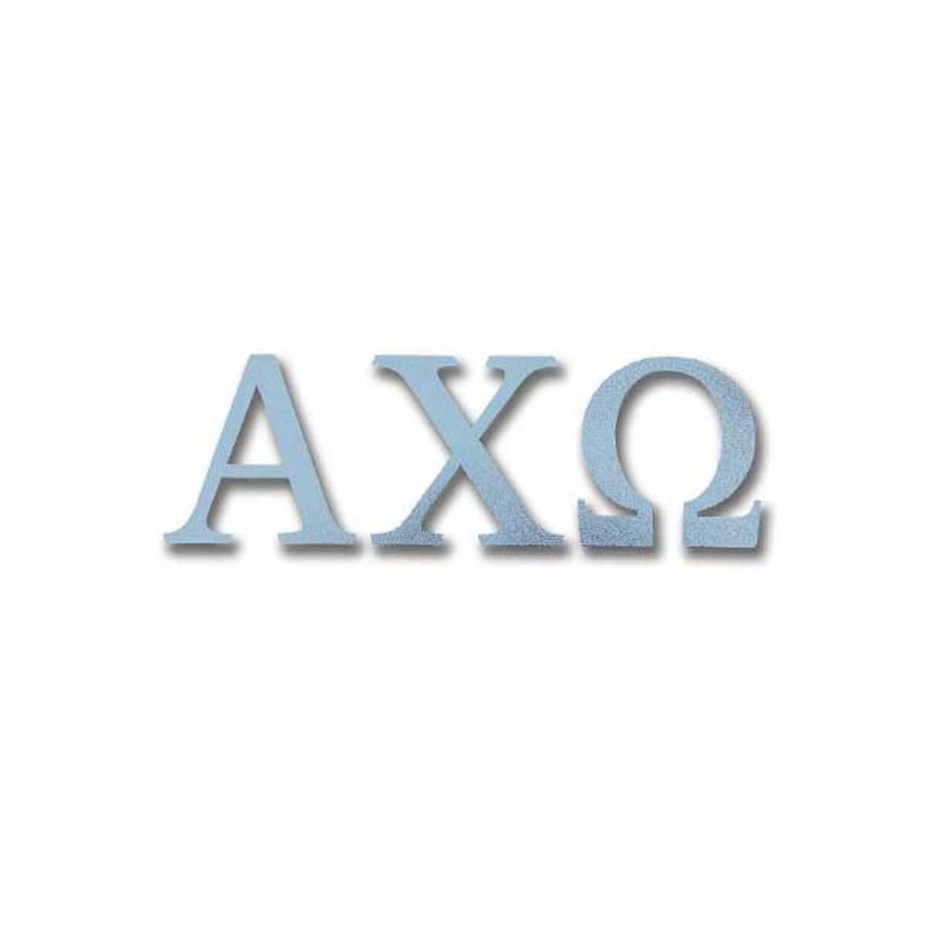 Alpha Chi Omega Letter Sticker in Silver