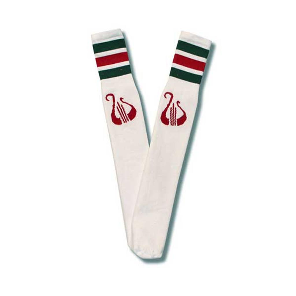 Alpha Chi Omega Socks in White