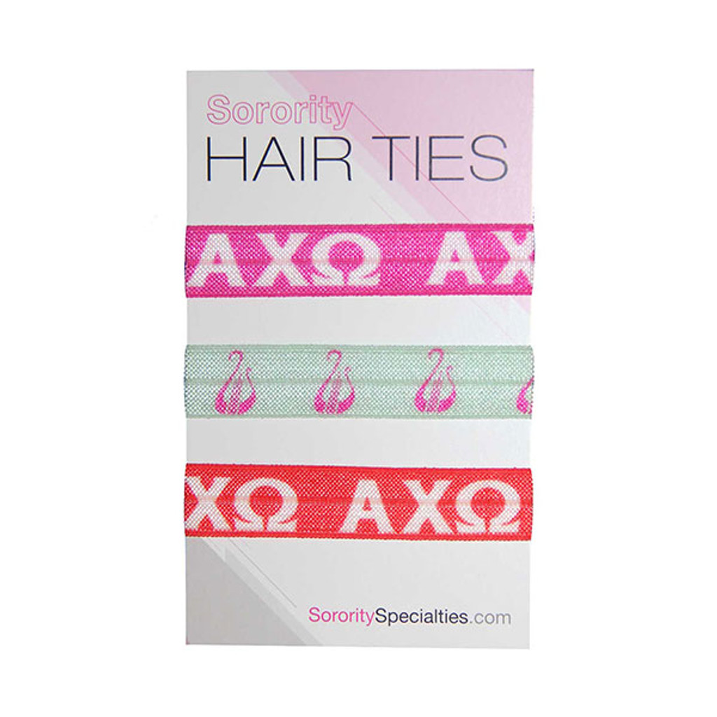 Alpha Chi Omega Hair Ties