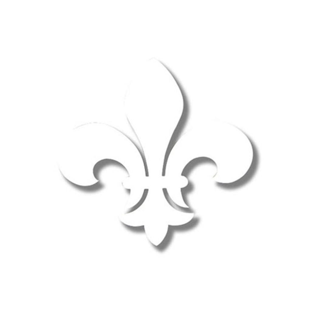 Kappa Kappa Gamma White Fleur-De-Lis Sticker