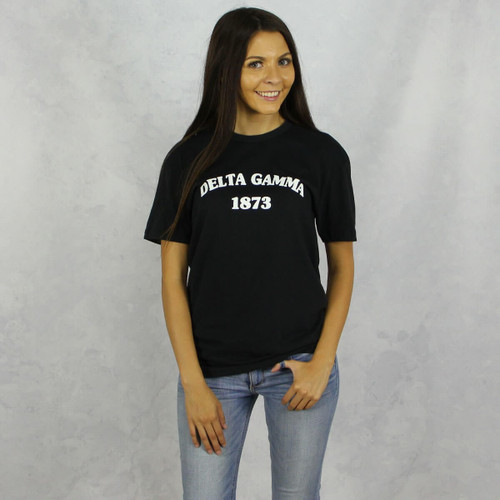 Delta Gamma Short Sleeve T-Shirt in Black