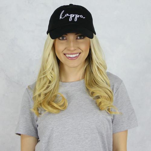Kappa Kappa Gamma Dad Baseball Hat in Black