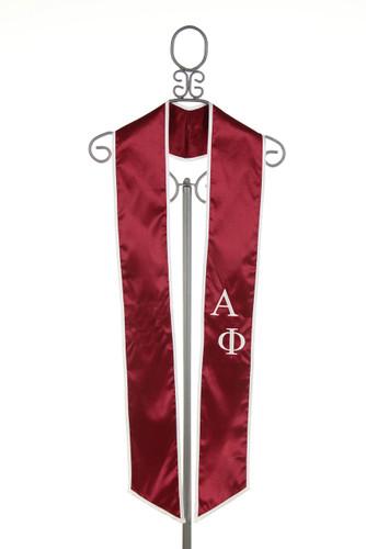 Alpha Phi Satin Graduation Stole