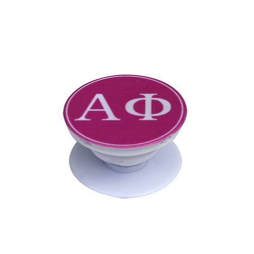 Alpha Phi Phone Grip in Hot Pink