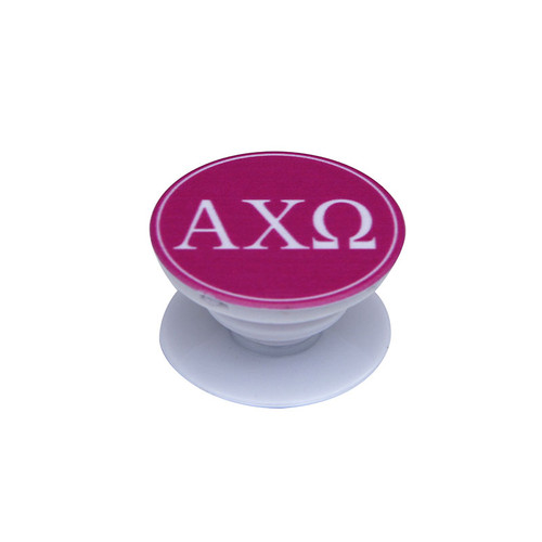 Alpha Chi Omega Phone Grip in Hot Pink