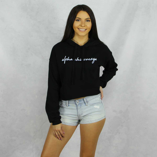 Alpha Chi Omega Cropped Hoodie