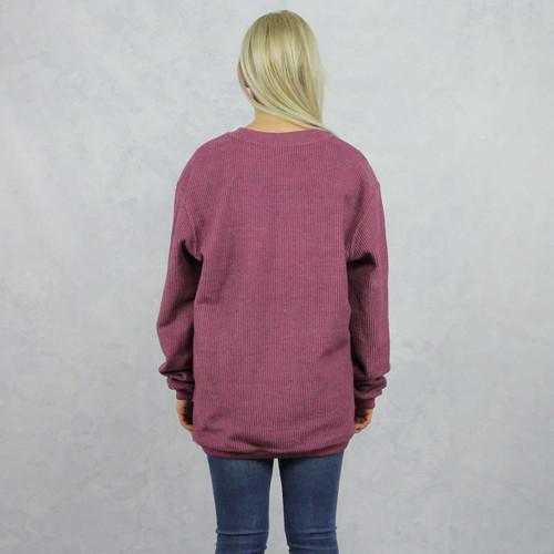 Kappa Alpha Theta Maroon Corded Sweatshirt by Theta Store, Back.