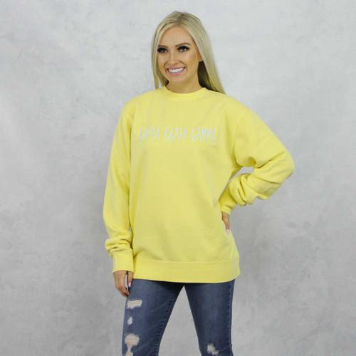 Kappa Kappa Gamma Embroidered Sweatshirt in Yellow now on Kappa Kappa Gamma Store.