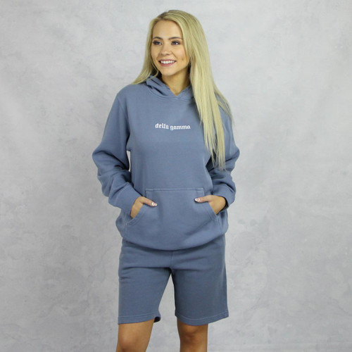 Delta Gamma Blue Hoodie and Shorts