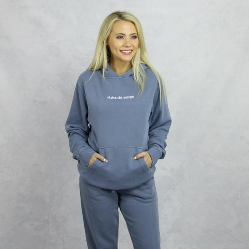 Alpha Chi Omega Blue Hoodie and Joggers