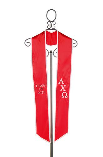 Alpha Chi Omega Graduation Stole - Class of 2021