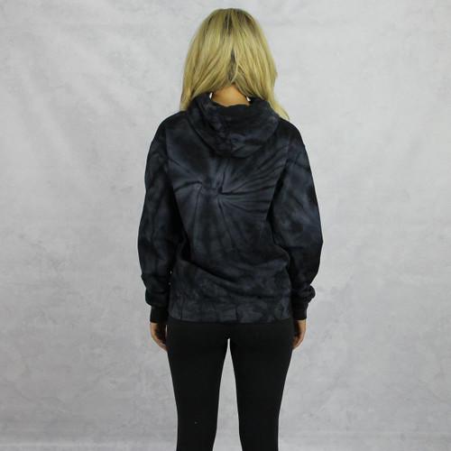 Delta Gamma Tie Dye Hoodie in Black Back