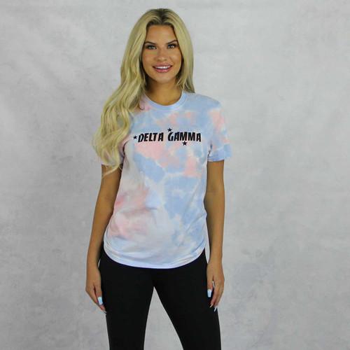 Delta Gamma Short Sleeve Tie Dye T-Shirt
