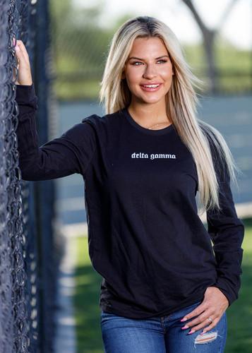 Delta Gamma Long Sleeve T-Shirt in Black Main