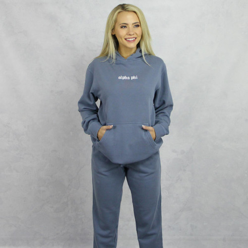 Alpha Phi Blue Hoodie and Joggers