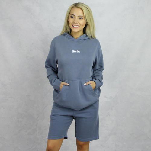 Kappa Alpha Theta Blue Hoodie and Shorts