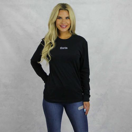 Kappa Alpha Theta Long Sleeve T-Shirt in Black