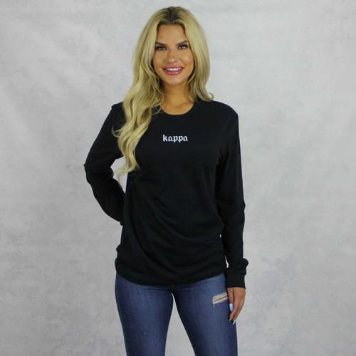 Kappa Kappa Gamma Long Sleeve T-Shirt in Black