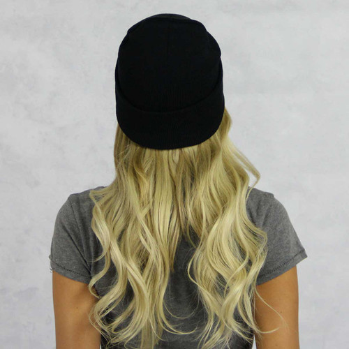 Alpha Chi Omega Black Beanie Back