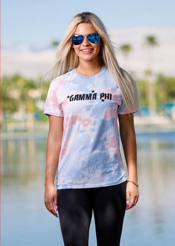 Gamma Phi Beta Short Sleeve Tie Dye T-Shirt Main