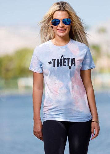 Kappa Alpha Theta Short Sleeve Tie Dye T-Shirt Main