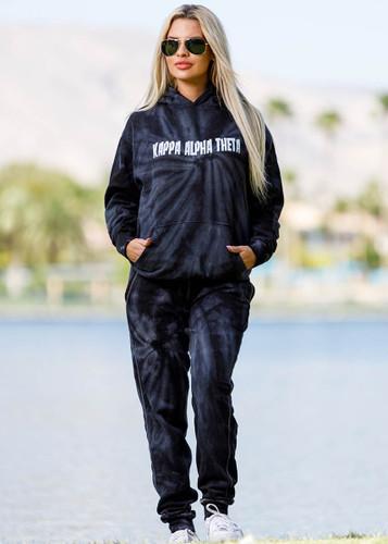 Kappa Alpha Theta Tie Dye Hoodie Black