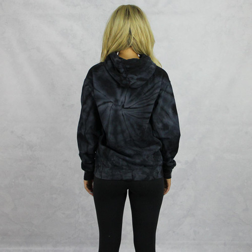 Kappa Alpha Theta Tie Dye Hoodie in Black back view