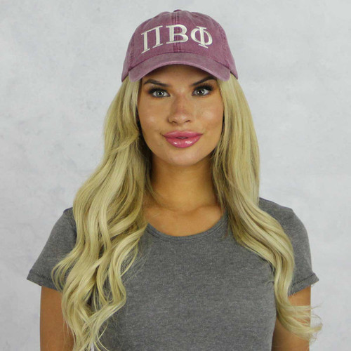 Pi Beta Phi Baseball Hat in Maroon