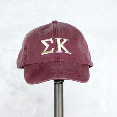 Sigma Kappa Baseball Hat in Maroon