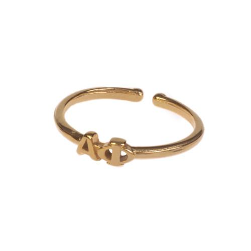 Alpha Phi Gold Adjustable Ring