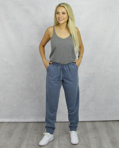 Blue Joggers Rolled