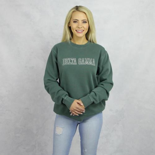 Green Delta Gamma Embroidered Sweatshirt Main