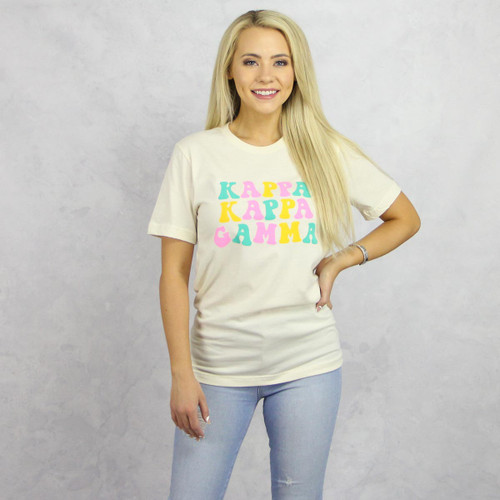 Kappa Kappa Gamma T-Shirt - Tan Short Sleeve Tee