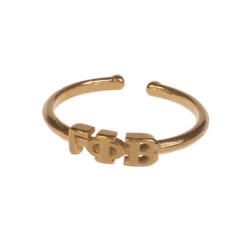 Gamma Phi Beta Gold Adjustable Ring