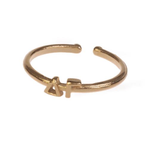 Delta Gamma Gold Adjustable Ring