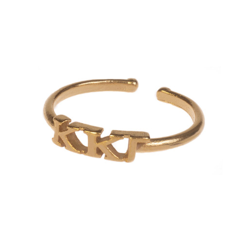 Kappa Kappa Gamma Gold Adjustable Ring