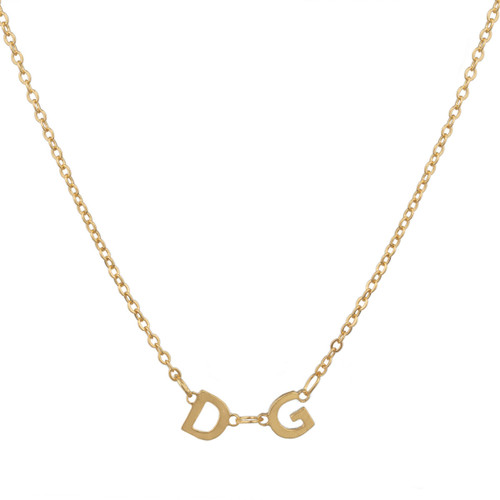 Delta Gamma Gold Letter Necklace Main