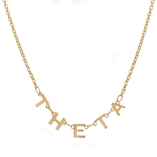 Kappa Alpha Theta Gold Letter Necklace