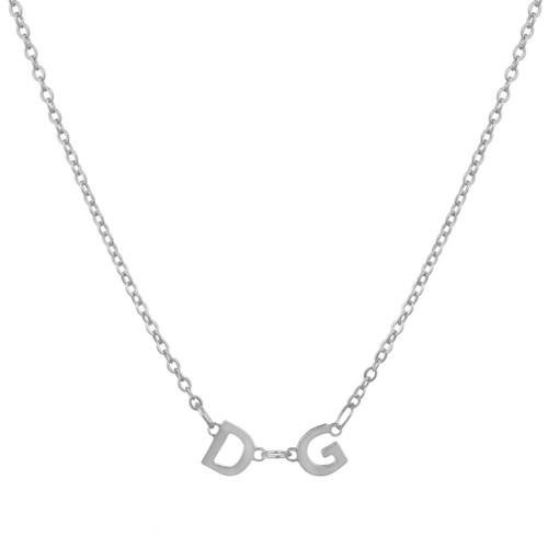 Delta Gamma Silver Letter Necklace