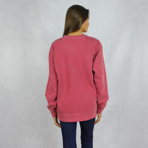 Alpha Phi Comfort Colors Sweatshirt in Red Back