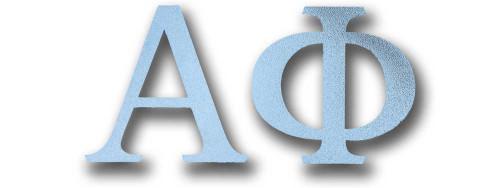 Alpha Phi Silver Letter Sticker