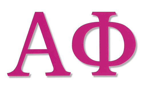 Alpha Phi Jumbo Hot Pink Sticker
