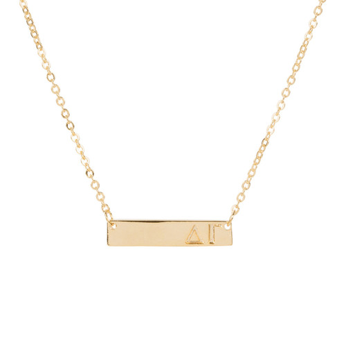 Delta Gamma Gold Bar Necklace