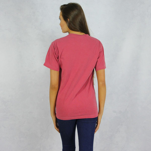 Delta Gamma Comfort Colors Pocket T-Shirt back